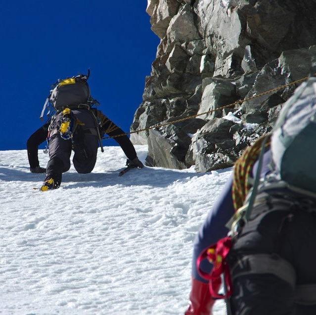Alpine climbing - The Anzacs, NZ